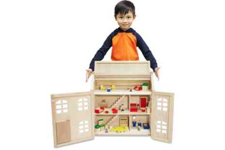 Groupon Goods Global GmbH - Toytopia Wooden Dolls House with Accessories - Save 0%