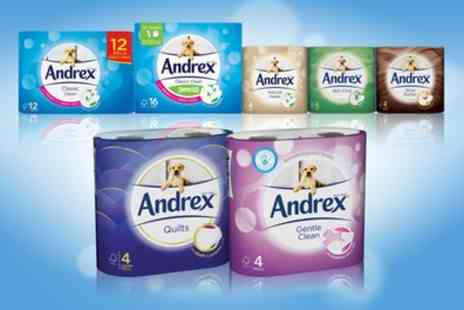 Groupon Goods Global GmbH - Up to 135 Rolls of Andrex Toilet Paper with Optional Pack of Andrex Washlets - Save 51%