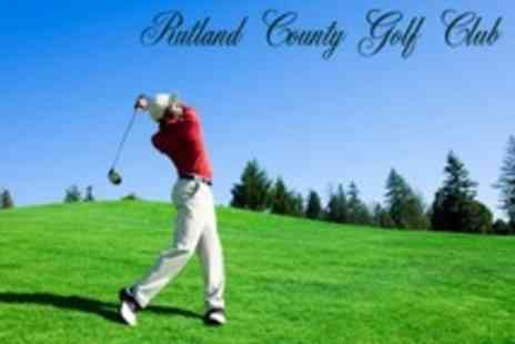 Rutland County Golf Club - 18 Hole Round For Two Plus Bucket of Range Balls Each - Save 66%