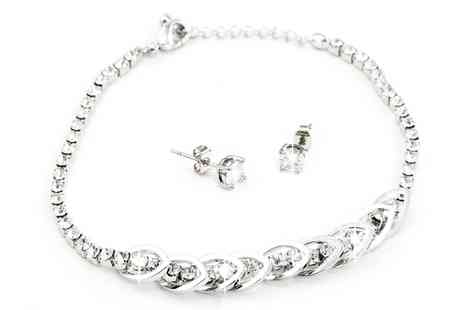 Groupon Goods Global GmbH - One or Two Alice Bracelet and Earrings Sets - Save 88%