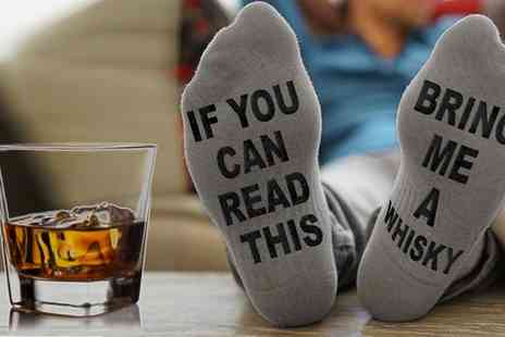 Groupon Goods Global GmbH - One, Two or Four Pairs of Bring Me a Whisky Socks - Save 70%