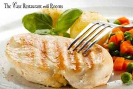 The Case Restaurant - Two Course British Meal With Glass of Wine Each For Four - Save 62%