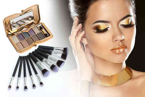 Forever Cosmetics - Eye shadow palette & ten brushes - Save 92%