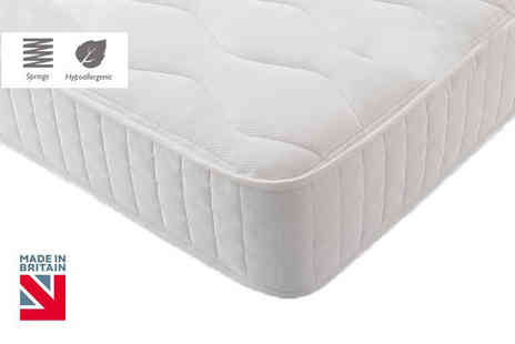 My Mattress Online - Hypoallergenic quilted Bonnell memory spring mattress choose from six sizes - Save 84%