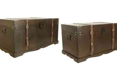 Groupon Goods Global GmbH - One or Two Vintage Style Storage Chests - Save 0%