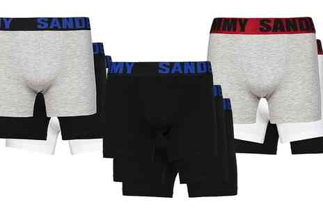 Groupon Goods Global GmbH - Three Pack Jimmy Sanders Boxers - Save 0%