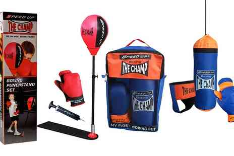 Groupon Goods Global GmbH - Boxing Punch Stand Set or Four Piece Boxing Set - Save 0%