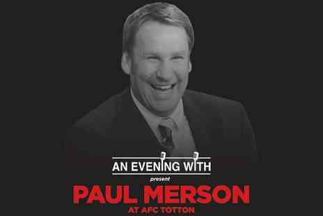 An Evening With Paul Merson - An Evening with Paul Merson, Entry and Pie Tickets on 22 February - Save 36%