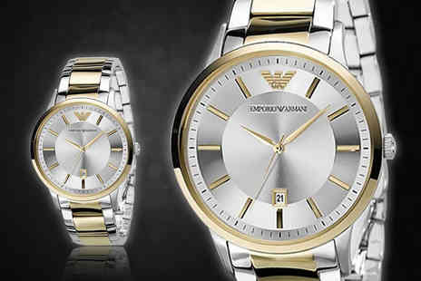 Wristy Business - Mens Emporio Armani two tone AR2449 watch - Save 65%