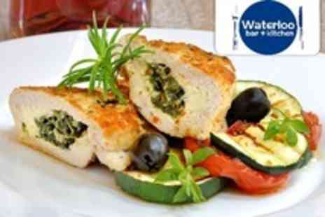 Waterloo Bar and Kitchen - Two Courses of Modern British Fare For Two With Glass of Prosecco Each - Save 55%