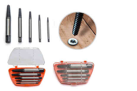 Hyfive - Five piece damaged bolt extractor set - Save 73%