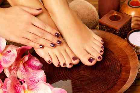 For Him & Her Beauty Clinic - Express shellac gel manicure or gel pedicure or both from - Save 64%