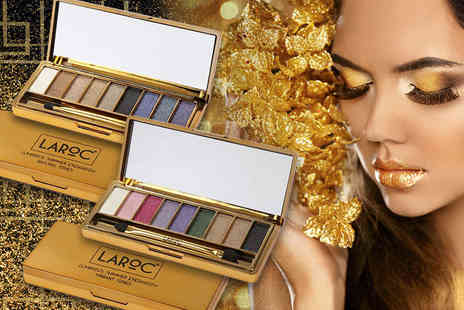La Roc - Nine colour glitter eyeshadow palette in vibrant or nude tones or both palettes - Save 50%