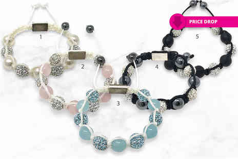 Watches And Crystals - Shimla bracelet choose from fifteen options including rose quartz and silver crystal - Save 79%