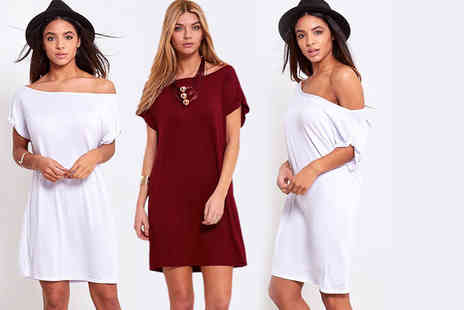 Be Jealous - T shirt dress in 10 colours - Save 70%
