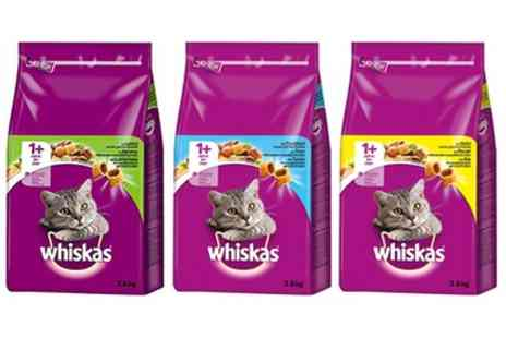 Groupon Goods Global GmbH - Three 3.8kg Packs of Whiskas Dry Food with Chicken, Lamb or Tuna for Cats - Save 0%