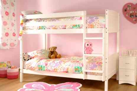 Groupon Goods Global GmbH - Pine Bunk Bed Frame and Optional Two Mattresses With Free Delivery - Save 63%