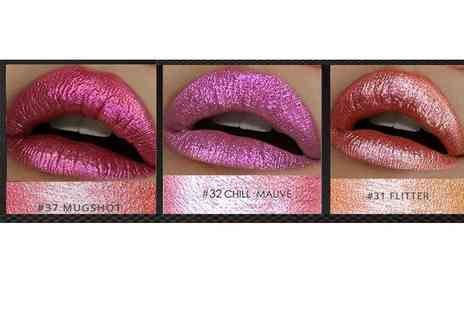 GetGorgeous - Metallic iridescent liquid lipstick choose from three shades - Save 62%