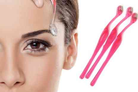 Groupon Goods Global GmbH - One, Two or Three Packs of Eyebrow Razors - Save 85%