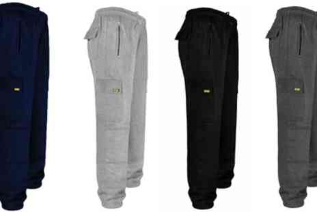 Groupon Goods Global GmbH - Site King Mens Tracksuit Bottoms with Knee Pad Pockets - Save 0%