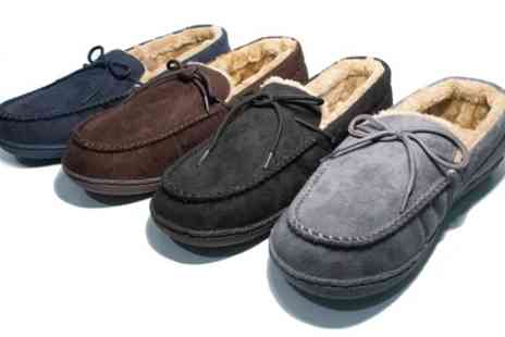 Groupon Goods Global GmbH - Mens Moccasin Lined Slippers - Save 60%