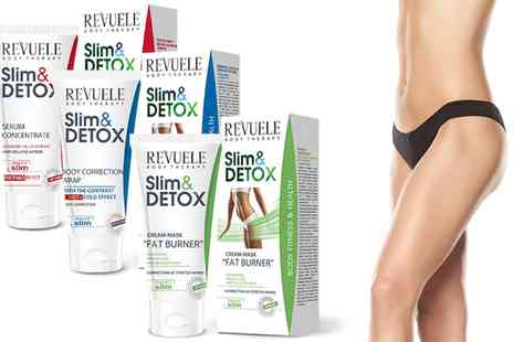 Groupon Goods Global GmbH - Revuele Body Therapy Slim and Detox Serum Concentrate, Body Wrap or Cream Mask - Save 71%