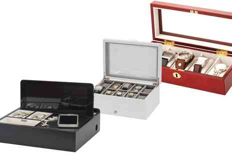 Groupon Goods Global GmbH - Mele And Co Wooden Watch Box or Jewellery Organiser - Save 45%