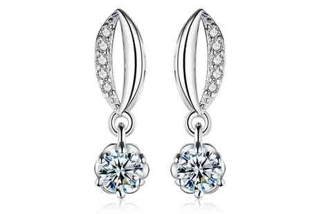 Groupon Goods Global GmbH - Sreema London Sterling Silver Drop Earrings - Save 90%