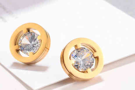 Romatco - Marley Round Stud Earrings Available in 2 Colours - Save 70%
