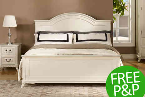 Great Sense - Oseasons Provence Birch King Size Bed in White With Free Delivery - Save 30%