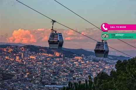 Super Escapes Travel - Two night 4 Star Barcelona stay with flights and Montjuic cable car ride tickets - Save 44%