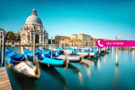 Super Escapes Travel - Two or three night 4 Star Venice stay with breakfast and return flights - Save 37%