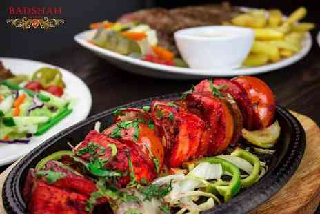 Badshah Palace Restaurant - Three courses of Indian dining with a soft drink or mocktail each for two - Save 48%