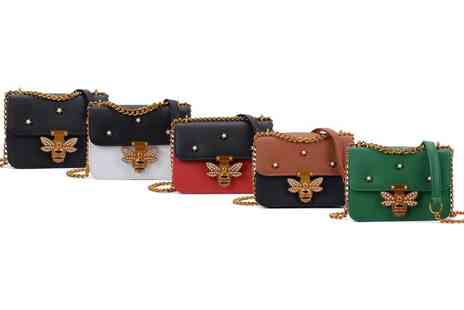 Groupon Goods Global GmbH - Bee Embellished Chain Bag in Choice of Colour - Save 0%