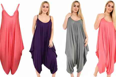 Groupon Goods Global GmbH - Womens Strappy Casual Jumpsuits in Choice of Colour - Save 0%