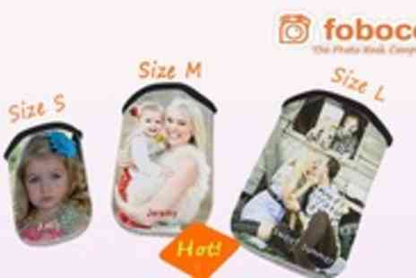 Foboco - Personalised mobile phone sleeve in a choice of 3 sizes - Save 84%