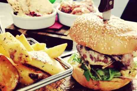 The Fat Monkey - Burger with Chips for Two or Four - Save 50%