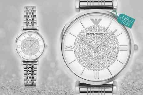 Gray Kingdom - Ladies Emporio Armani silvertone AR1925 watch with a limited number available - Save 65%