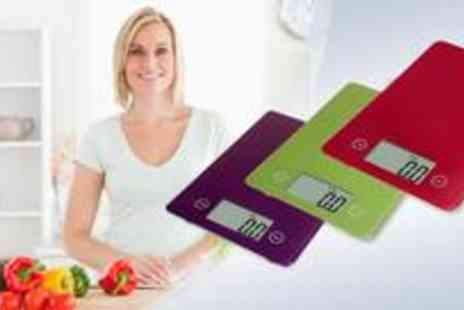 Jewel2sell - Ultra slim digital kitchen scale, available in black, white, red, purple and green - Save 65%
