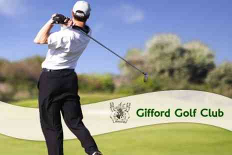 Gifford Golf Club - Golf Day Pass with Refreshment - Save 63%
