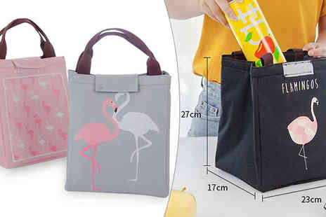 Best mall ever - Flamingo Design Insulated Lunch Bag Available in 4 Colours - Save 85%