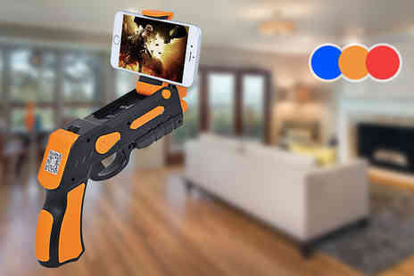 Craze UK - iPhone and Android phone compatible AR toy gun attachment select from three colours - Save 67%