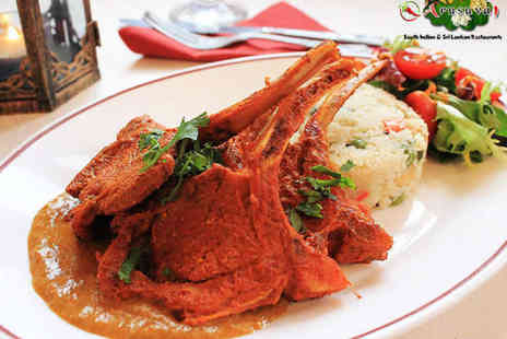 Jumaira Spice - Starter and a main for two or four - Save 48%