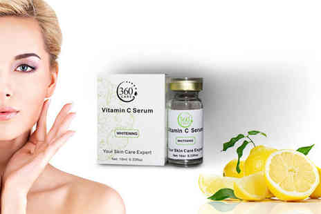 Seated Toad - One 10ml bottle of vitamin C anti ageing serum - Save 87%