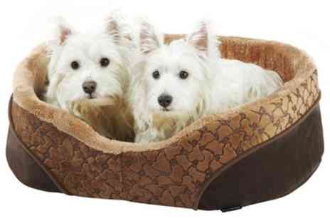 Groupon Goods Global GmbH - Bunty Mocha Soft Fleece Pet Bed - Save 20%