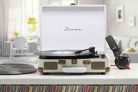 Groupon Goods Global GmbH - Zennox Retro Club Turntable Record Player Briefcase with Optional Spare Stylus - Save 65%