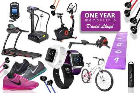 HCI Distribution - Fitness Mystery Deal for One Year David Lloyd Membership, Fit Bit, Nike, Veho and more - Save 0%