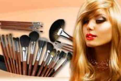 Louise Walsh International - 24 piece real hair make up brush set - Save 84%