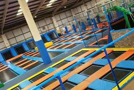 Air Factory Trampoline Park - One Hour Trampoline Access with Optional Grip Socks for Up to Four - Save 39%