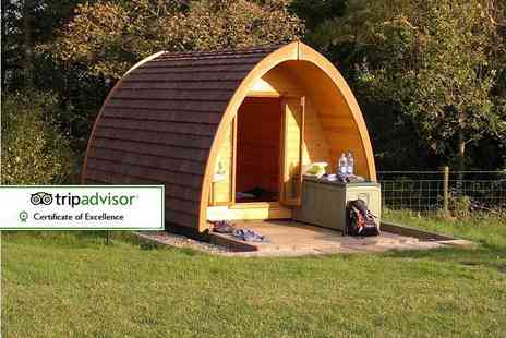 Gill Head Farm - Two nights Lake District glamping break in a wooden camping pod for two people - Save 46%
